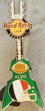 Hard Rock Cafe BRUSSELS 2013 Super Bowl #47 XLVII Helmet GUITAR PIN HRC #70729