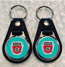 TURQUOISE FORD F-100 KEYCHAIN SET 1954 1955 1956