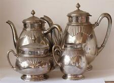 Antique German Chrome Plated Jugendstil Art Deco Coffee/Tea Set by WMF c.1920s