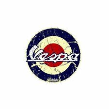 VESPA DECALS X 2  by Voodoo Street RACE RETRO OLD SCHOOL VINTAGE, self adhesive