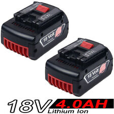 2x 18V 4.0AH Li-ion Battery For Bosch BAT609,BAT618,17618 25618-01