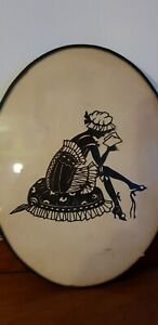 Antique 19th c.  Paper Cut-Out Silhouette - Signed - Possibly German