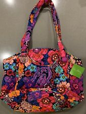 VERA BRADLEY Glenna Purse Tote Bag Floral Fiesta New with Tags and pockets