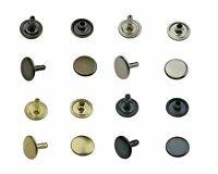 Hohlnieten Doppelkopf 6mm, 7mm, 9mm, 12mm Stahl, Leder, Textilien, Taschen,Stoff