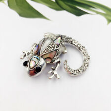 Antique Silver Vintage Lizard Gecko Brooches For Women Animal Lizard Broches