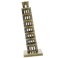 ARCHITECTURE METAL BUILDING MODEL ITALY LEANING TOWER OF PISA REPLICA STATUE