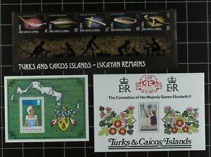 Weeda Turks & Caicos MNH Collection 11 Souvenir Sheets & 4 Sheetlets CV $50.95