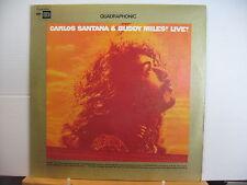 CARLOS SANTANA & BUDDY MILES Live! COLUMBIA SQ QUAD VINYL LP Free UK Post