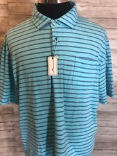 Men's New NWT Peter Millar Seaside Wash Large Golf Polo Shirt  Striped L N23