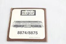 Booklet Manual Description Locomotive 8874/8875