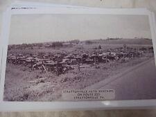 JUNKYARD STRATTONVILLE PA ROUTE 322 1945    11 X 17  PHOTO  /  PICTURE