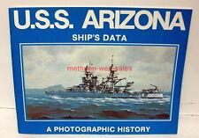 Book~USS Arizona~Ship's Data~Photographic History~1978 Edition~BB-39 Memorial