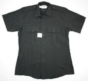 NWT Elbeco Prestige Duty Uniform Shirt 8841 Short Sleeve Black Size 16