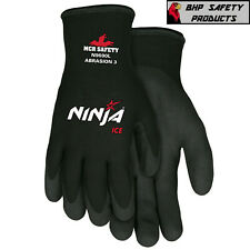Mcr Memphis Ninja Ice Insulated Cold Winter Weather Safety Work Gloves 1pair