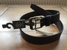 "Genuine Timberland Leather Belt In Brown Size 34"" Top Grain Leather"