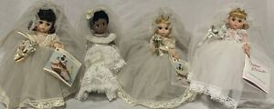 Bride Doll Lot 4 Madame Alexander Alexanderkins 1 Black AA 1 Brunette 2 Blondes