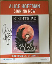 NIGHTBIRD POSTER - HEAVY CARD STOCK -SIGNED by Alice Hoffman in person ,11 x 14
