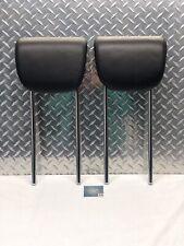 06-11 MERCEDES W251 R350 ML350 REAR BACK SEAT 3RD ROW HEADREST HEAD RESTS BLACK