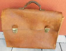 vintage GROSSE SACOCHE sac CARTABLE homa CUIR LEATHER BAG Ledertasche LEDER case