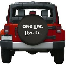 "Universal Black ONE LIFE LIVE IT Spare Tire Cover Wheel 29-30"" New Free Shipping"