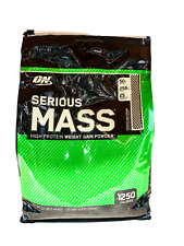 Optimum SERIOUS MASS Gainer Protein Creatine Glutamine Aminos 12 lbs PICK FLAVOR