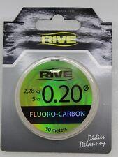 Rive Fluoro-Carbon Angelschnur 30 m 721020 Stärke 0,20 Tragkraft 2,28 kg NEU