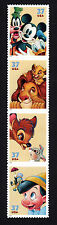 3865-68 Art of Disney Friendship Strip IN CORRECT ORDER & READY TO MOUNT MNH-VF