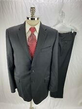 Burberry Men's Black Pinstripe Wool Suit 42L 38 x 32