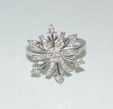 18K WHITE 0.50 TCW DIAMOND GOLD Ring  Size 6.5