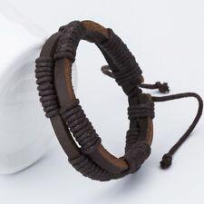 Multi Layer Bangle Men Best Gift Handmade Fashion Charm Leather Braided Bracelet