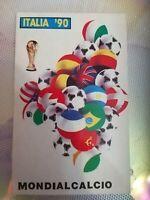 Rarissima Cartolina AUTODESIVA Mondiali calcio Italia 90 da collezione Alta 15cm