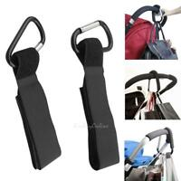 4pcs Aluminum Mummy Buggy Clip Pram Pushchair Stroller Hook Shopping Bag Clip