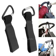 4pcs Aluminum Mummy Buggy Clip Pram Pushchair Stroller Hook Shopping Bag Clip