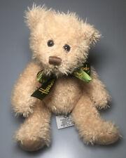 Collectible Harrods Knightsbridge Henry Tan Teddy Bear Plush Green Bow 8� Vtg