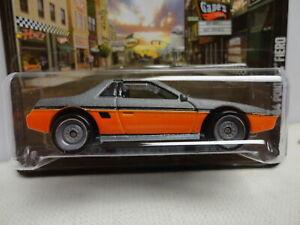 Hot Wheels '84 PONTIAC FIERO Orange & Gray 1984 w/RR REAL RUBBER Tires BOULEVARD