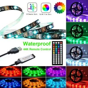 5050 RGB LED Strip Lights TV Backlight Colour Changing Tape Light+Remote Control