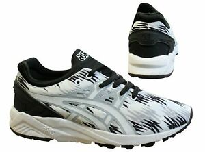 Asics Gel-Kayano Evo Slip On Black White Lace Up Mens Trainers H6C3N 9001 Z60A