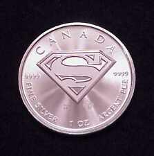 "2016 ""SUPERMAN"" 1 OZ .9999 FINE SILVER CANADIAN $5.00 **SUPERB**"