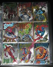 1994 Marvel Universe SILVER Powerblast Set of 9 Cards NM/M (Jumbo Excl.)