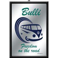 Spiegel VW Volkswagen Bulli Freedom,30cm,Mirror für Bar,Partykeller,Kellerbar