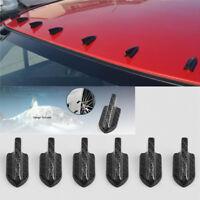 10 Pcs Carbon Fiber Color Shark Fin Generator/Diffuser Set Roof Wing Decoration
