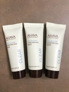 3x AHAVA Time to Clear Purifying Mud Masks! 3x 20 mL! NEW!