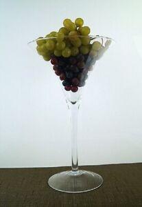 Martini Vase Centrepieces wedding H-30cmx20cm Home décor Clear Cocktail conical
