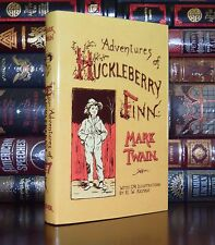 The Adventures of Huckleberry Finn Twain Illustrated Unabridged New Deluxe Ed.