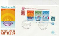 Netherlands Antillen 1982 PhilexFrance  Slogan Cancel FDC Stamps Cover Ref 25207