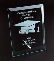 Graduation Congratulations Personalised Engraved Glass Plaque COYG-GP