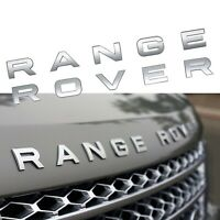 Range Rover Rear Trunk/Front Bonnet Badge Brand New in Matte SILVER