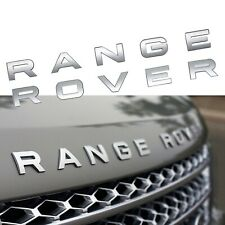 Range Rover Rear Trunk/Front Bonnet Badge Brand New in Matte SILVER
