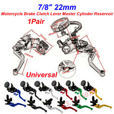 "7/8"", 22mm Universal Motorcycle Brake Clutch Lever Master Cylinder Reservoir New"