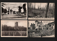 Opc X4 Vintage France Chateau Thierry Postcards Unused